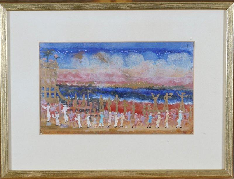Kunstnere ved stranden 1951