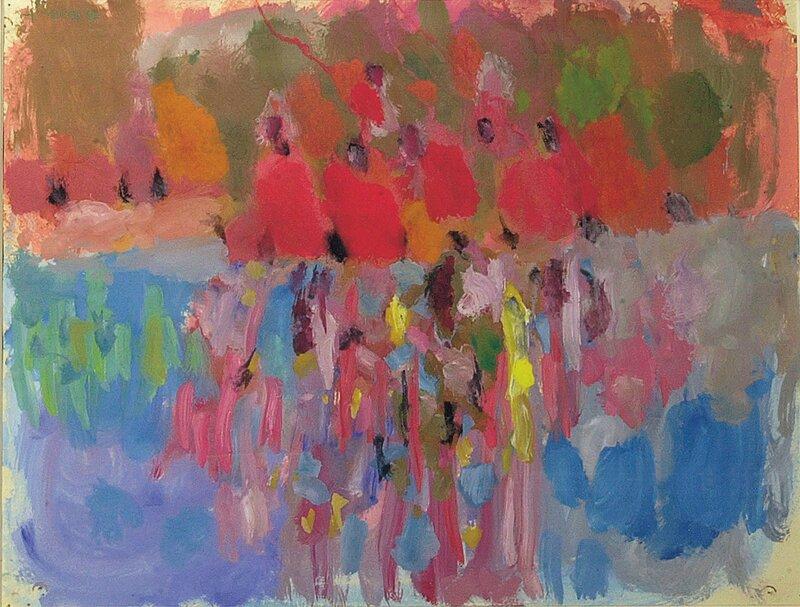 Komposisjon i blått og rødt 1968