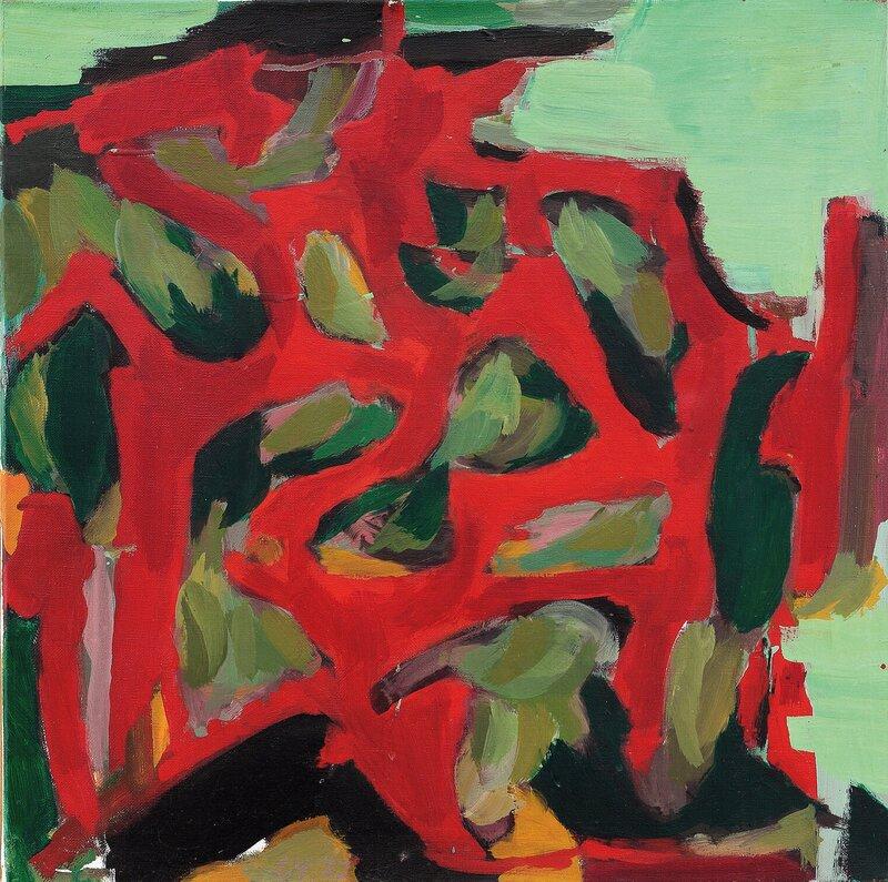 Komposisjon i rødt og grønt