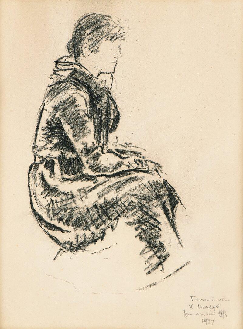 Sittende dame 1934