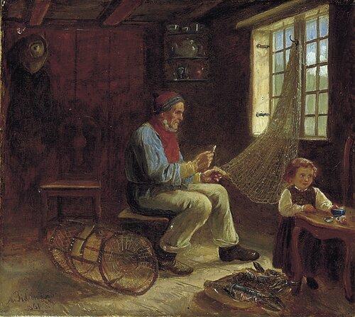 Fiskeren og hans datter 1861