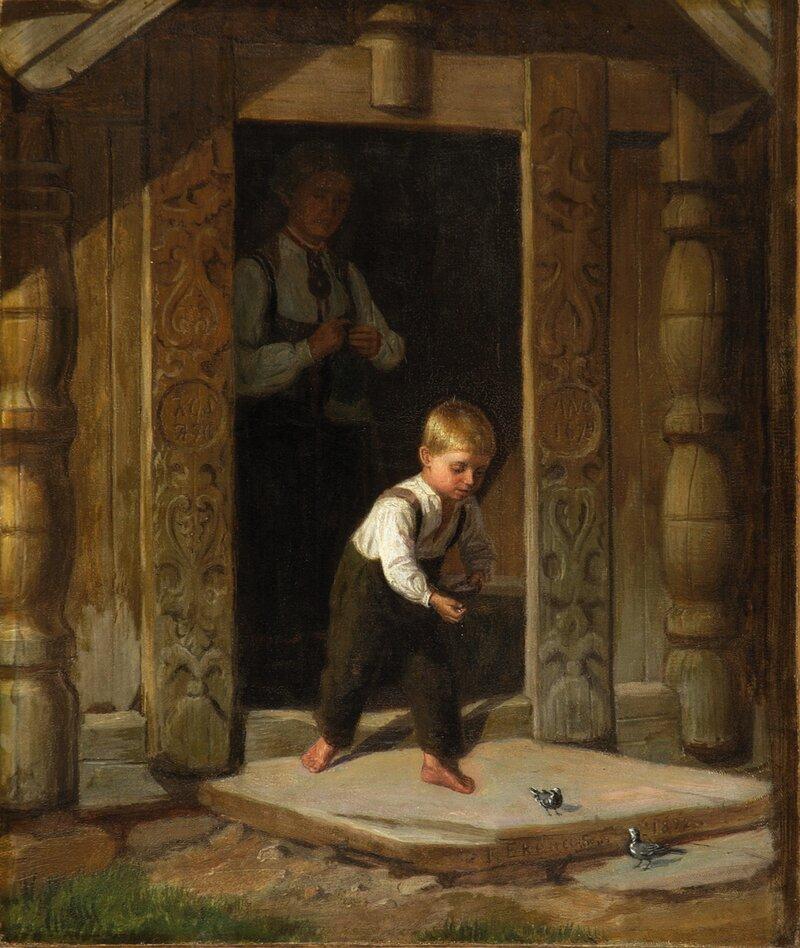 Gutt som mater linerler 1872
