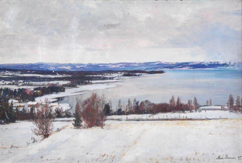 Kystlandskap, vinter 1895