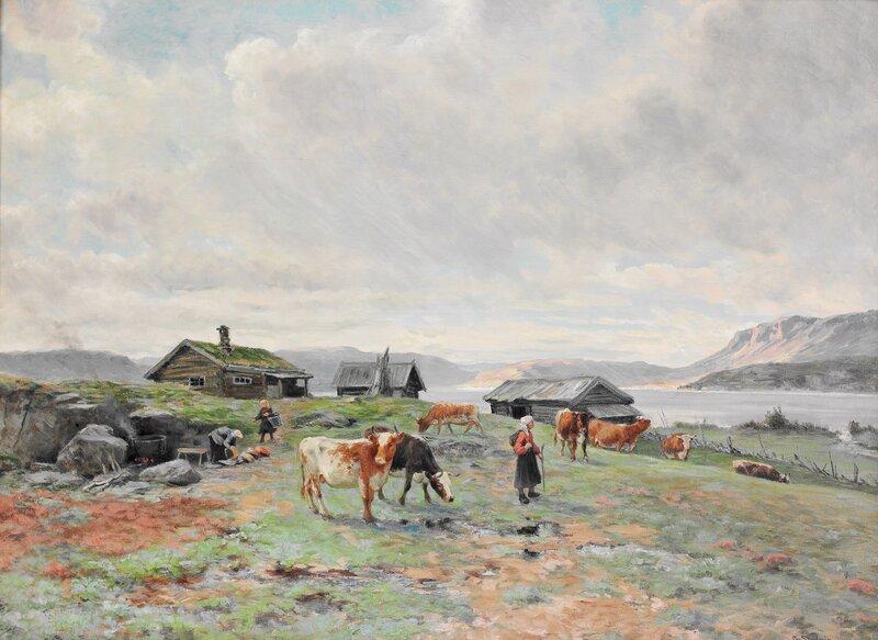 Morgenstemning på Holmvassbu 1915