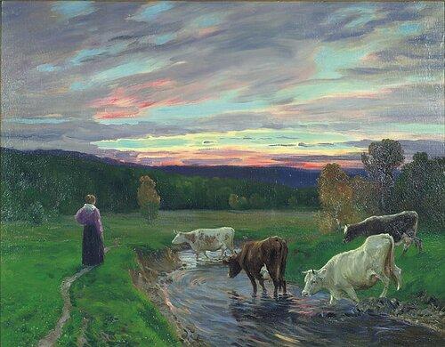 Etter solnedgang, Eggedal 1896