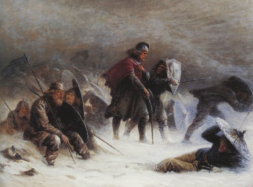 King Sverre in Snowstorm in the Voss Mountains 1870