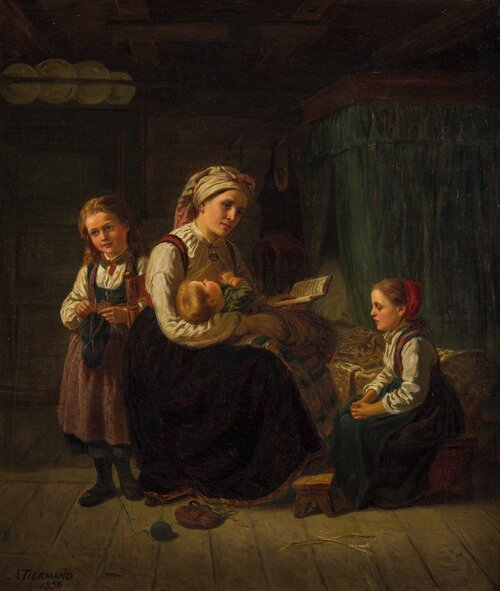 A Mother Teaching 1856