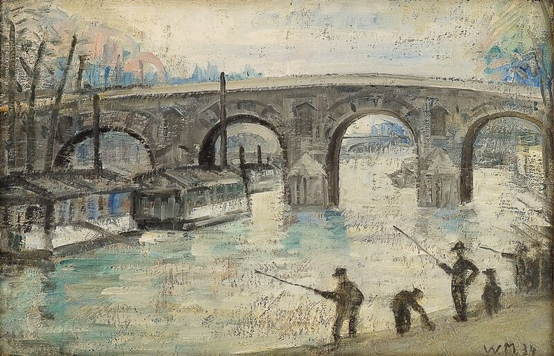 Fiskere ved Pont Neuf, Paris 1934
