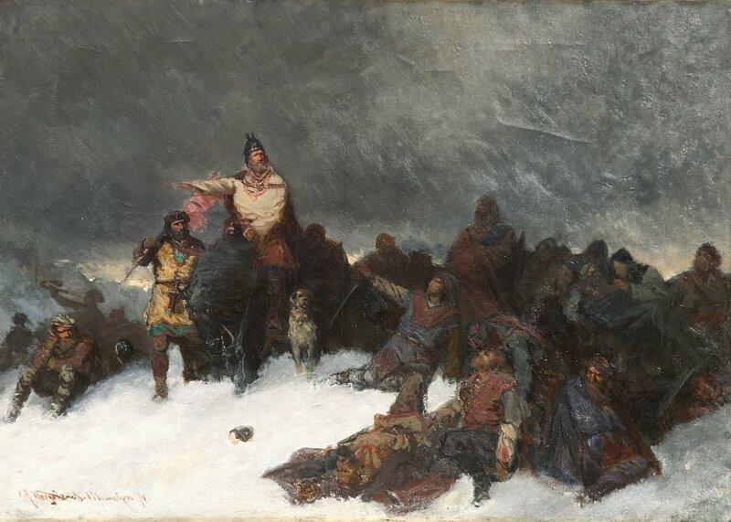 Sverres tog over Vossefjellene 1874