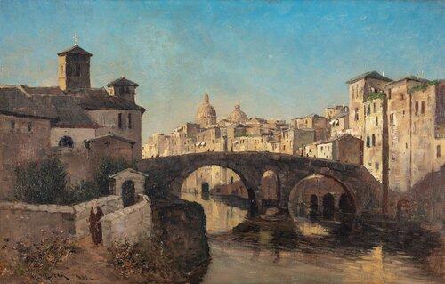 Ponte Fabricio i Roma 1881