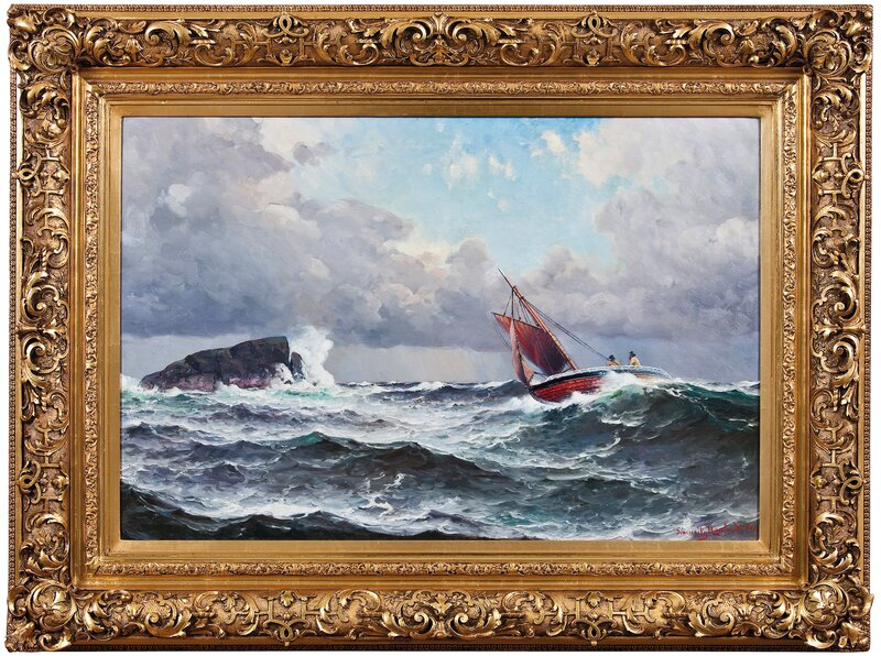 Losbåt i opprørt sjø 1907
