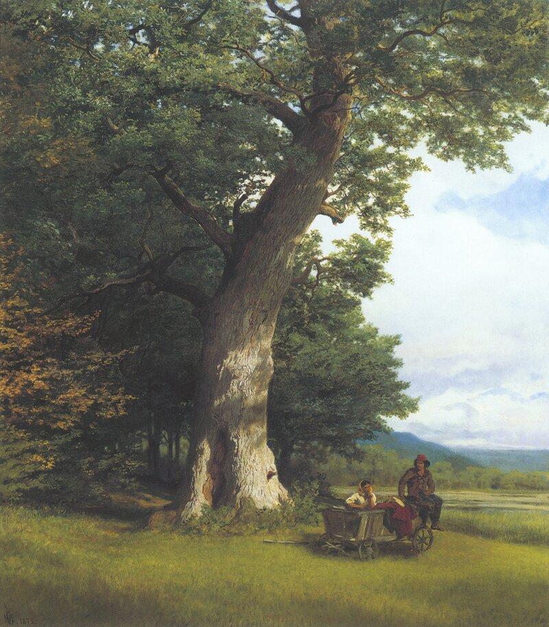 Gammel eik ved Karlsruhe 1875