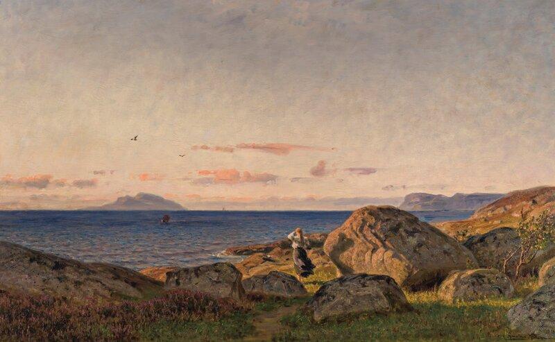 Fra Stavnes ved Sundfjord, Sogn og fjordane 1918
