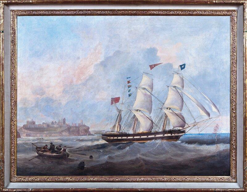 Bark under seil 1847
