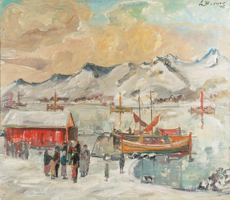 Fra et fiskevær i Lofoten 1948