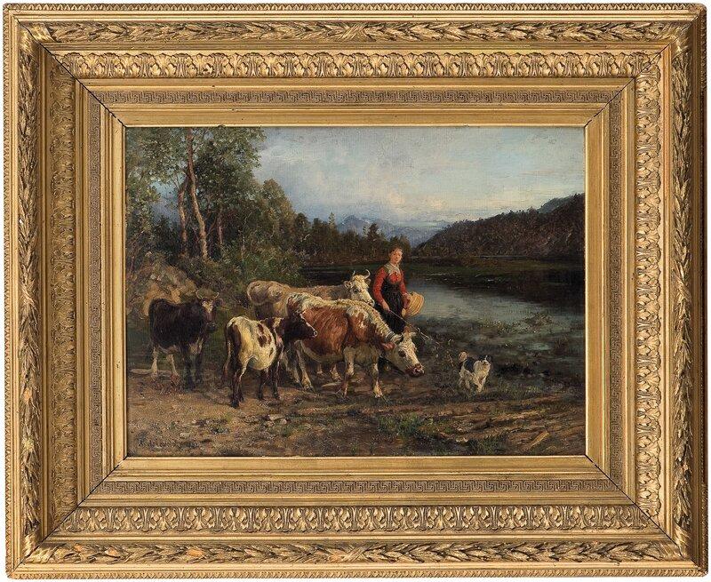 Aften ved vanningsstedet 1882