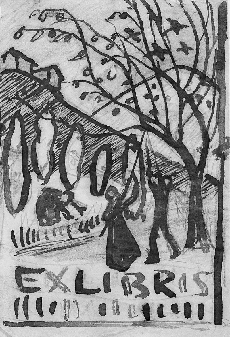 Høst Plukke epler Ex Libris