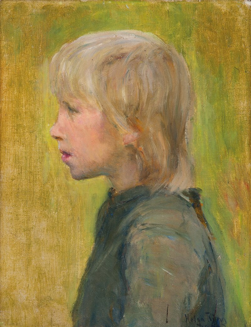Barnehode i profil 1889