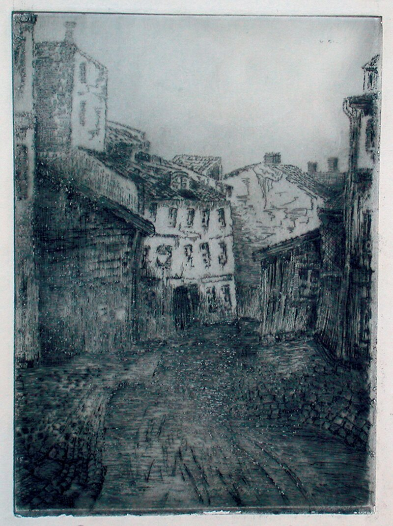 Tussmørke i Strandgaten 1927