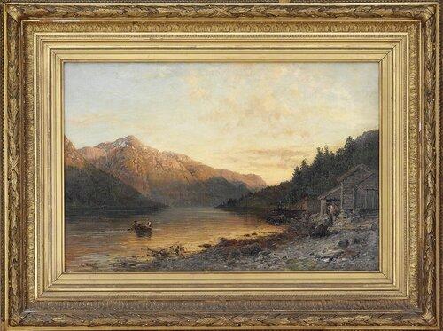 Kveld ved Hardangerfjorden 1887