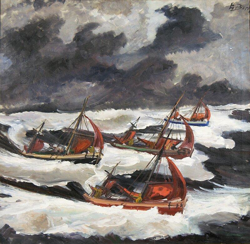 Fiskebåter i rom sjø