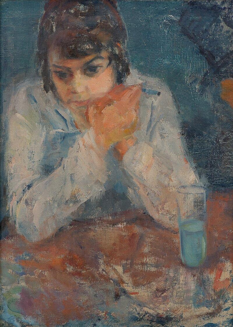 Kvinne med sigarett 1919