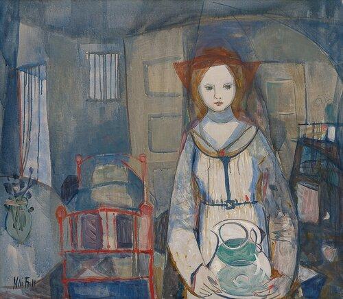 Kvinne med vannmugge
