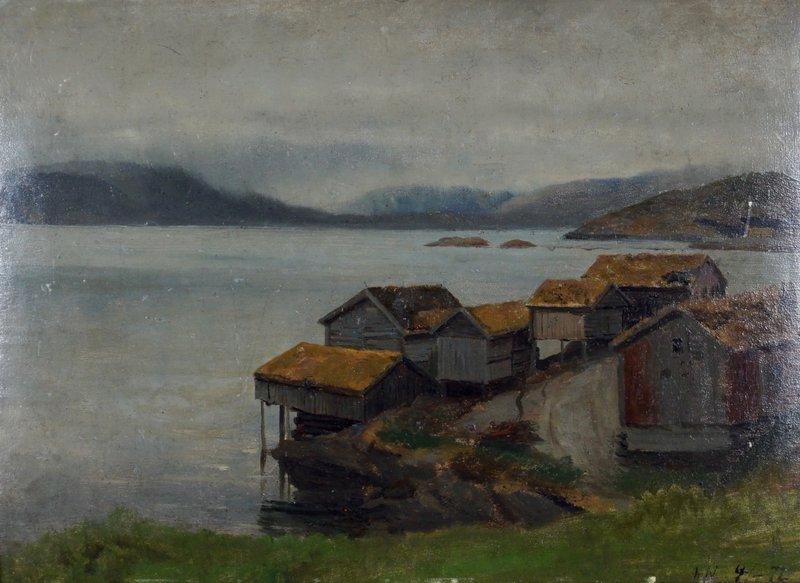 Coastal Landscape with Houses 1872