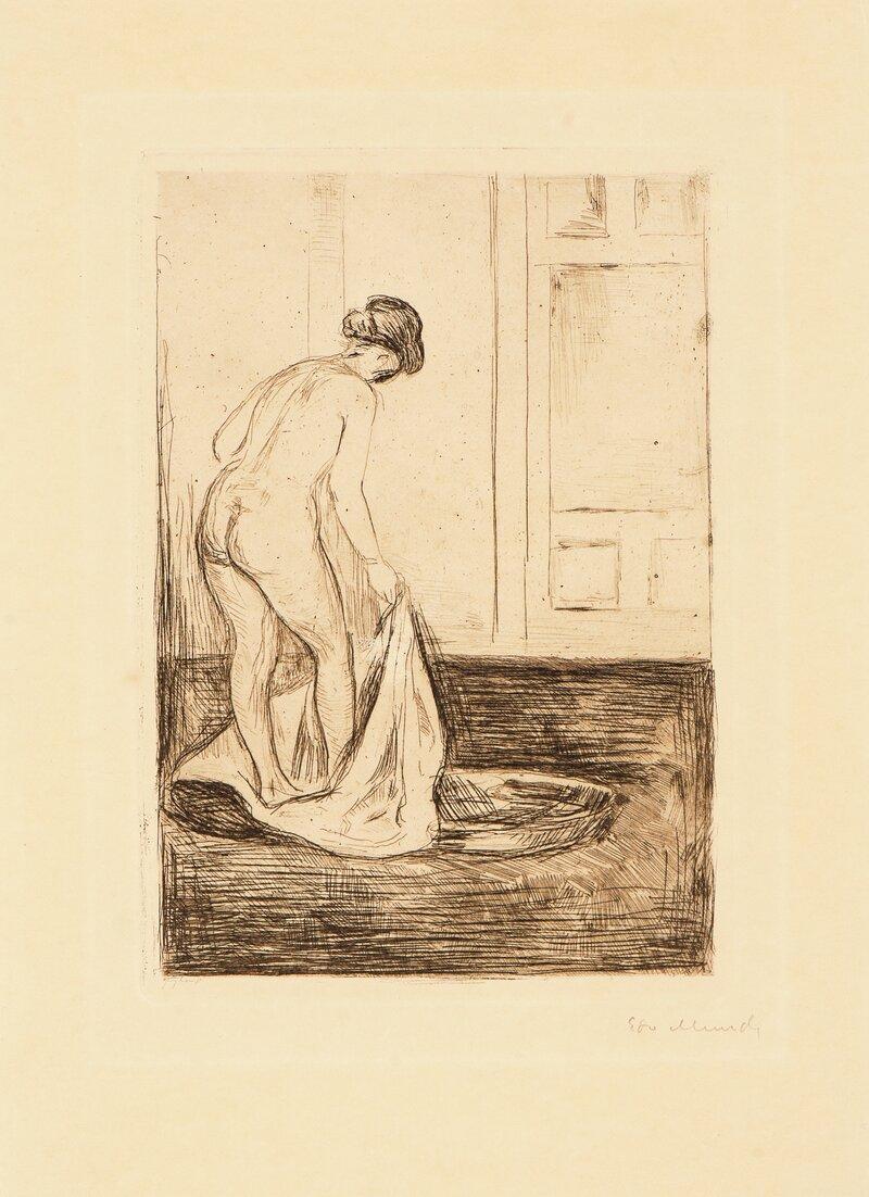 Kvinne som bader seg