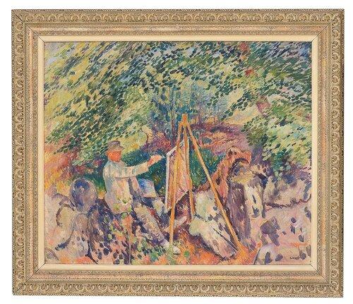 Kunstner ved sitt staffeli