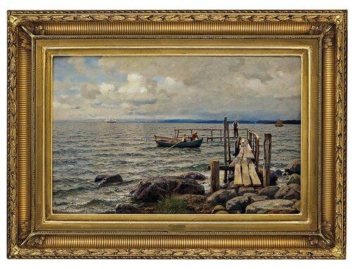 Landgangsbrygge ved Feste Moss 1895