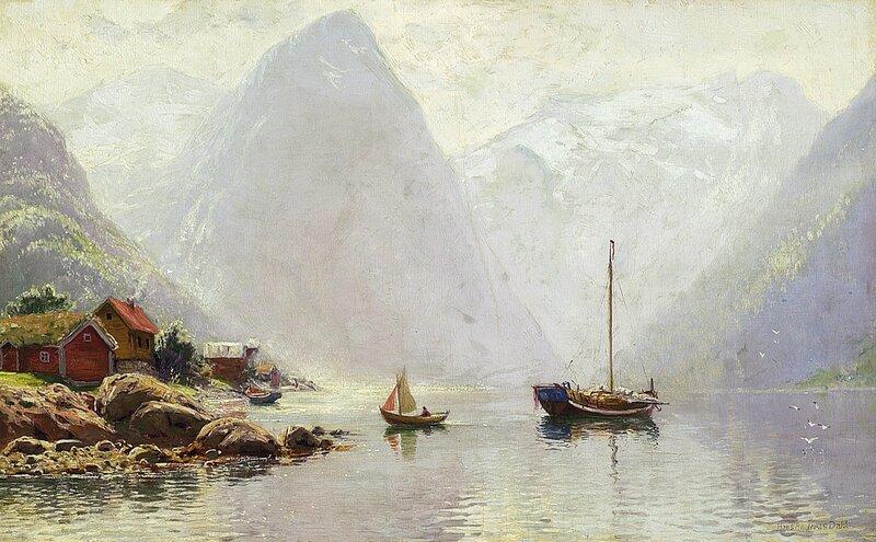 Folkeliv i Vestlandsfjord
