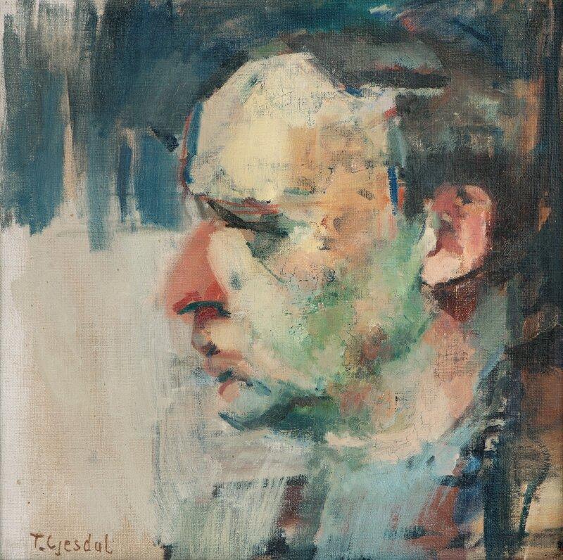 Portrait of the painter Georg Backer Berg