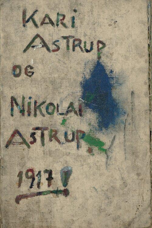 Tegnebok for Kari Astrup og Nikolai Astrup 1917