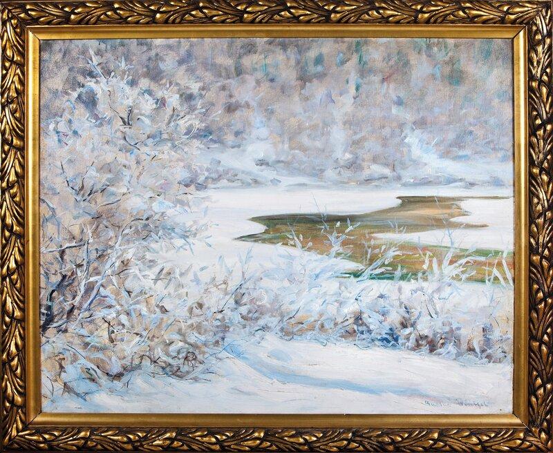 Frossen elv i Gudbrandsdalen