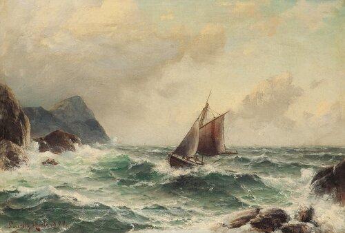 Losbåt blant klipper 1894