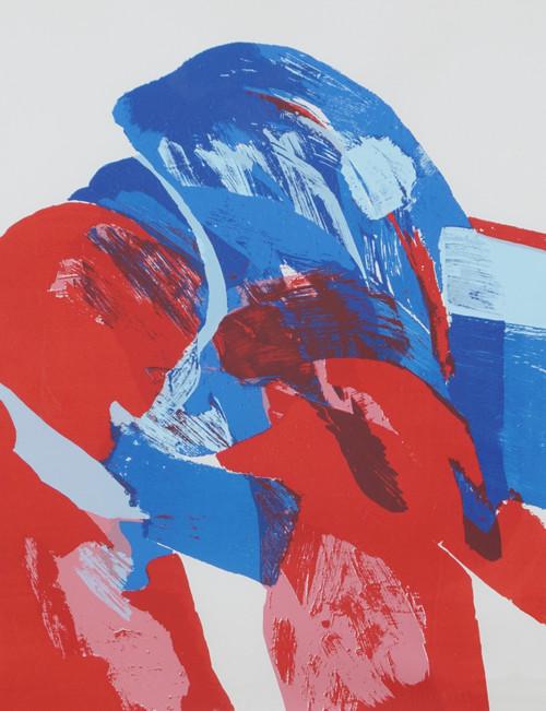 Uten tittel Komposisjon med blå, rød og rosa 1968