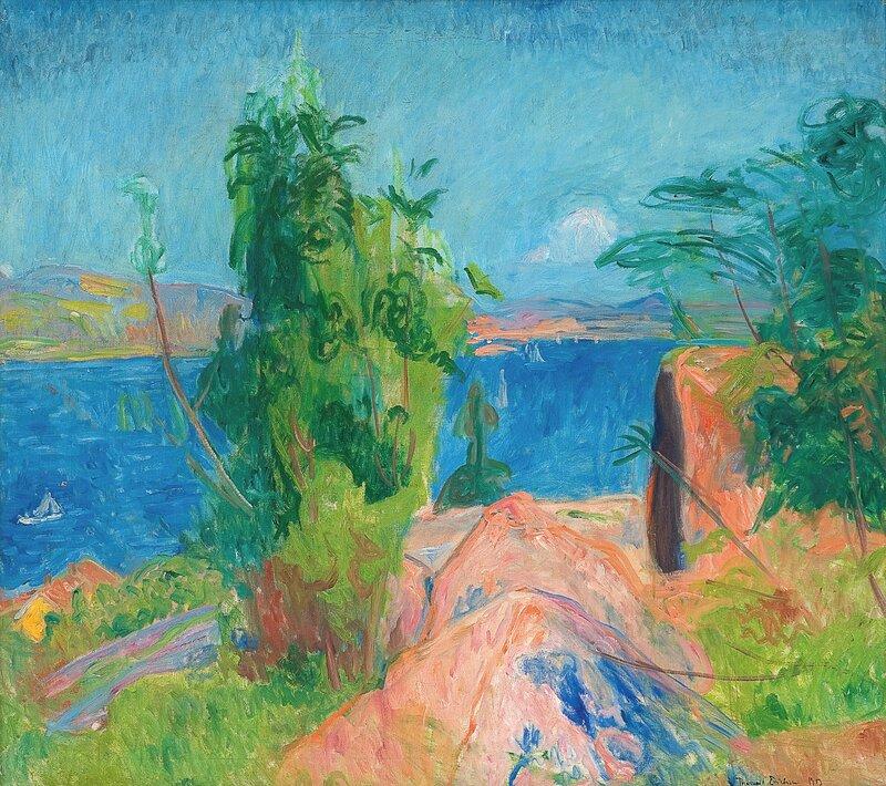 Utsikt over fjorden 1913