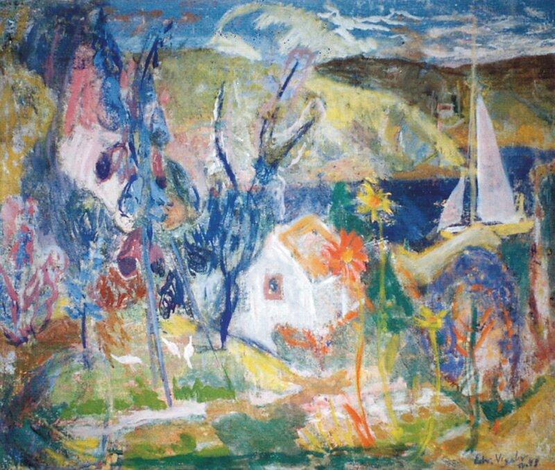Hus i fjordlandskap 1948