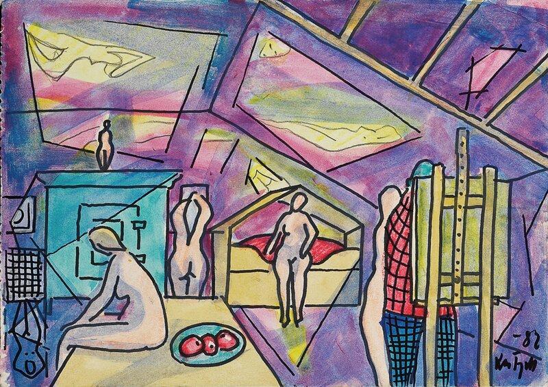 Fra et atelier 1982