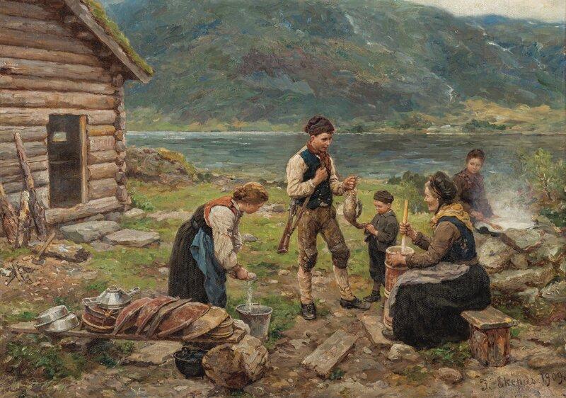 En heldig andejakt 1909