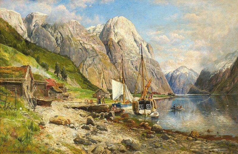 Fra Nærøfjorden, Sogn 1899