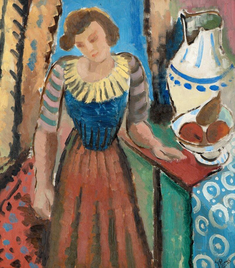 Kvinne i interiør 1931