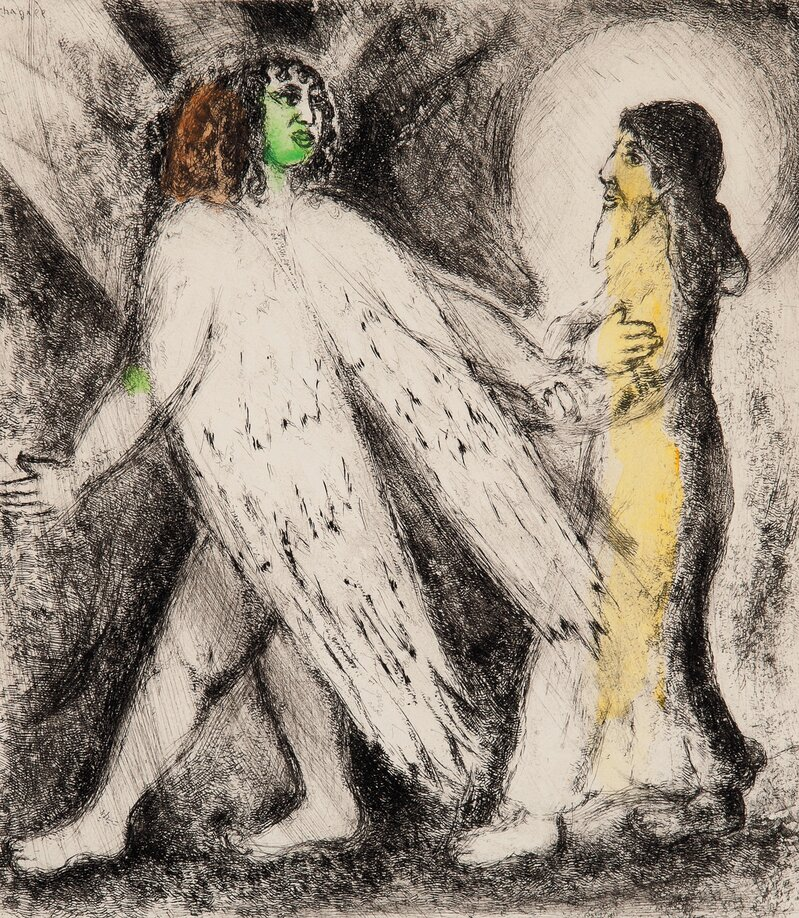 Engel som leder Elias