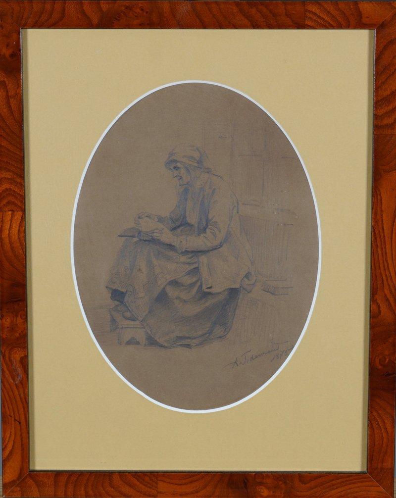 Lesende kone 1875