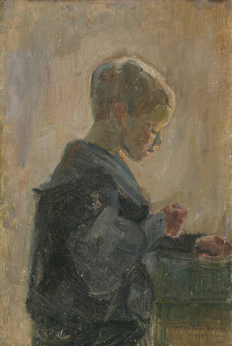 Han steller med frimerkene 1907