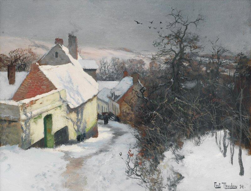 Vinter i Montreuil-sur-Mer 1894