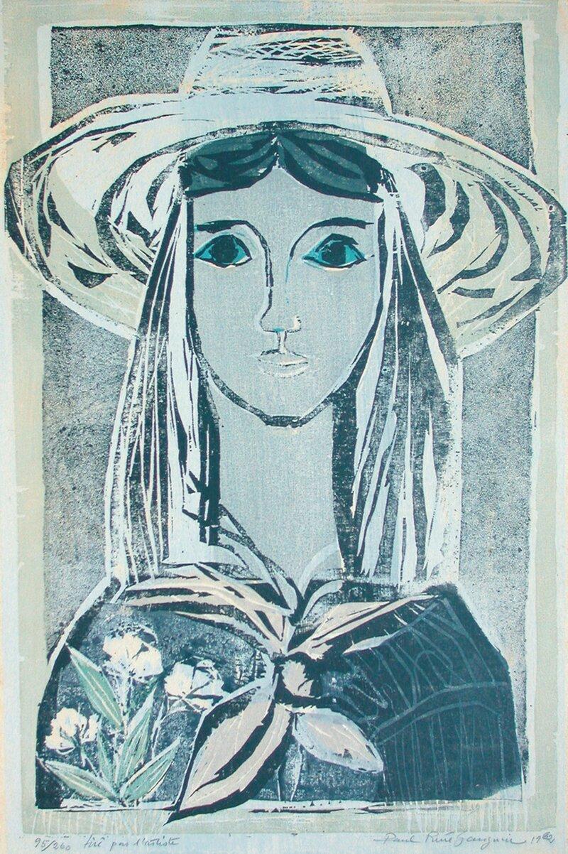 Kvinne med hatt 1962