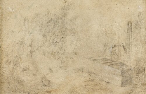 Landskap med gamle furutrær 1858