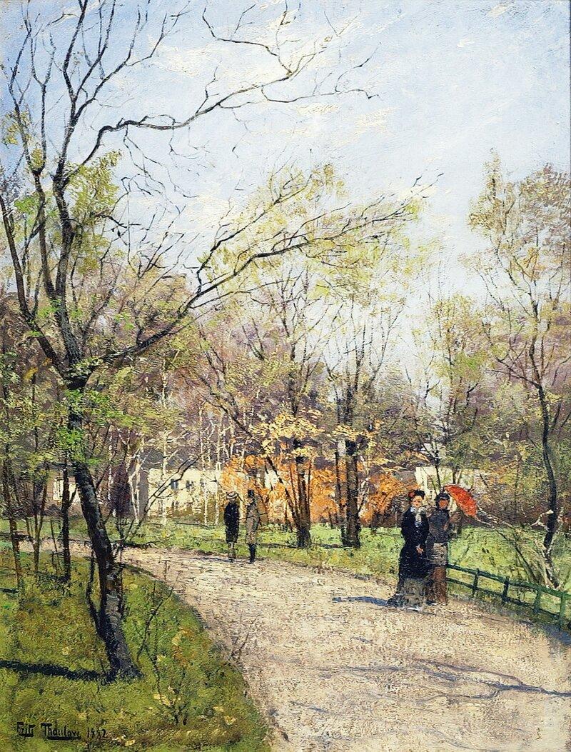 Fra Slottsparken 1882